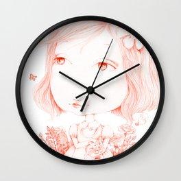 Monochrome Love: Red Wall Clock