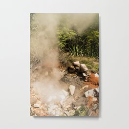Steamy Volcano Outlet in Costa Rica Metal Print