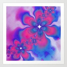 Fleurs Fête Fractal Art Print