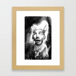 Rabbit Face Framed Art Print