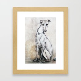 The Greyhound Wearing His Thorn Framed Art Print