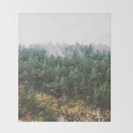 Foggy Vancouver Island Throw Blanket