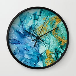 Golden Isles Un Wall Clock
