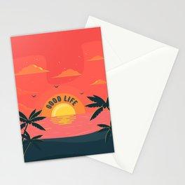 Good Life summer beach paradise Stationery Cards