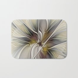 Floral Abstract, Fractal Art Bath Mat