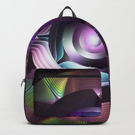 Believe in magic, mixed media abstract Backpack