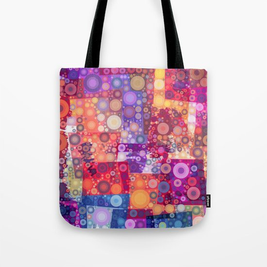 Harlequin Bubbles Tote Bag