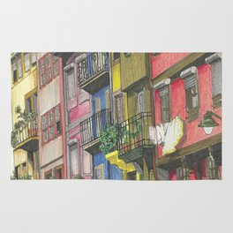 Penciled Cityscapes Rug
