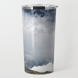 Landsape Waterton Meadow and Rolling Hills | Nature | Skyscape Clouds Travel Mug