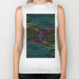 Evening Pond Rhapsody Biker Tank