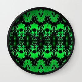 St Patrick's Lights (green) Wall Clock
