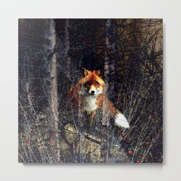 Watcher In the Woods (Red Fox) Metal Print