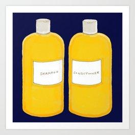 Shampoo & Conditioner (blue) Art Print