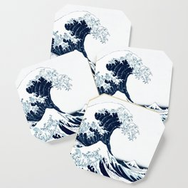 The Great Wave - Halftone Coaster