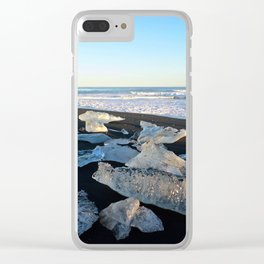 Jokulsarlon Beach III, Iceland Clear iPhone Case