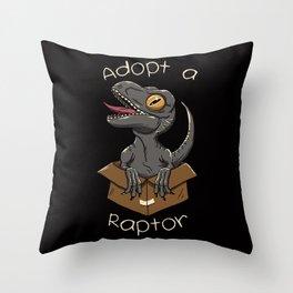 Adopt a Raptor Throw Pillow
