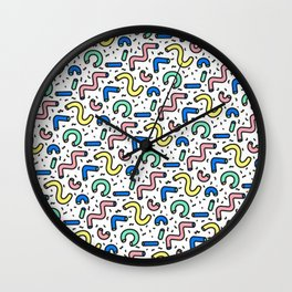 80s - 90s KEITH HARING STYLE SQUIGGLE PATTERN Wall Clock
