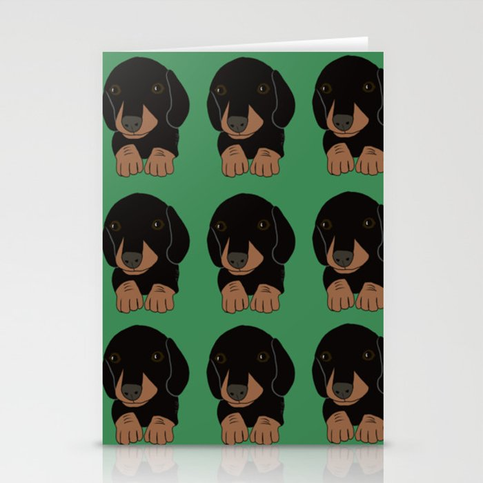 Dachshund Puppies Galore! Stationery Cards
