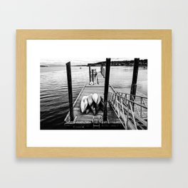 Sittin' on the Dock of the Bay Framed Art Print