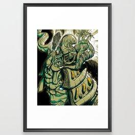 Buddhist Samurai Framed Art Print