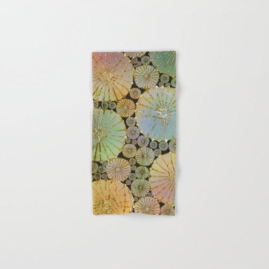 Abstract Floral Circles 2 Hand & Bath Towel
