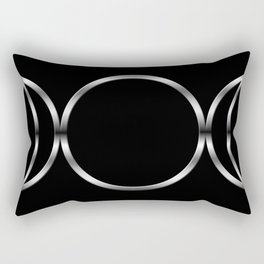Triple Goddess Symbol Rectangular Pillow