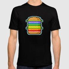 Pixel Hamburger MEDIUM Mens Fitted Tee Black