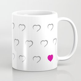 Hearts - Pink Coffee Mug