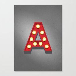 A - Theatre Marquee Letter Canvas Print