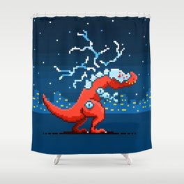 T-Rex Atron Shower Curtain