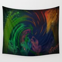 fairies Wall Tapestries featuring The Dance of the Fairies by NPDesigns