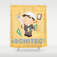 architect Shower Curtains featuring Architect by Alapapaju