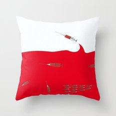 Insane tide Throw Pillow