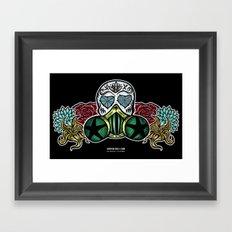 Gasmask Sugar Skull Framed Art Print