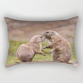Cute Little Prairie Dogs In Love Rectangular Pillow