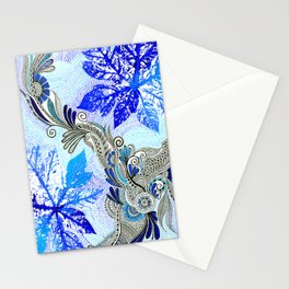 Dreaming in Blues Stationery Cards
