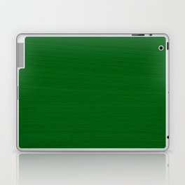 Emerald Green Brush Texture - Solid Color Laptop & iPad Skin