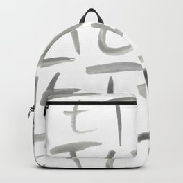 Watercolor T's - Grey Gray Backpack
