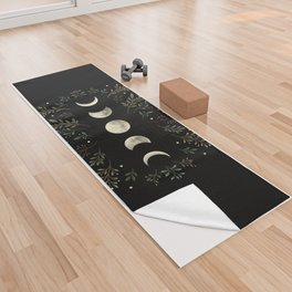 Moonlight Garden - Olive Green Yoga Towel