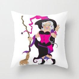 Granny Hex (Purple) Throw Pillow