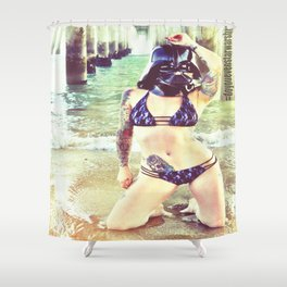 Darth Harmony's Summer Vacation Shower Curtain