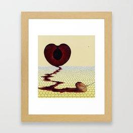 with a heavy heart Framed Art Print