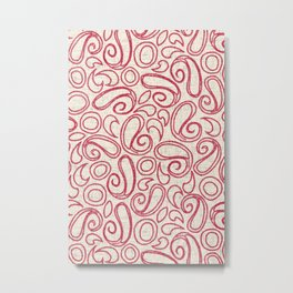 ziya cream strawberry Metal Print