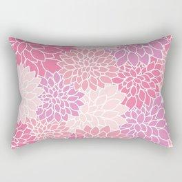 Dahlia Flowers, Petals, Blossoms - Pink Purple Rectangular Pillow