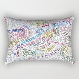 St. Petersburg Literary Map Rectangular Pillow