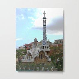 Barcelona, Spain. Parque Guell. Metal Print