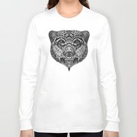 "ethnic Long Sleeve T-shirts featuring ""Ethnic Bear"" by beart24"