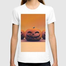 Grinning Jack-o-Lantern Pumpkin Template Wallpaper T-shirt