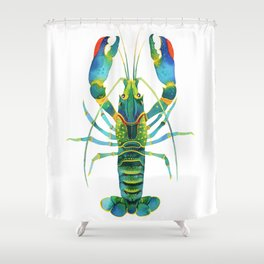 Red Claw Crayfish Lobster Shower Curtain