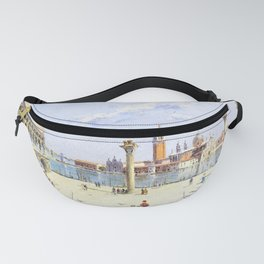 13,000px,500dpi-Antonietta Brandeis - The Piazzetta, the Ducal Palace, Venice - Digital Remastered Edition Fanny Pack